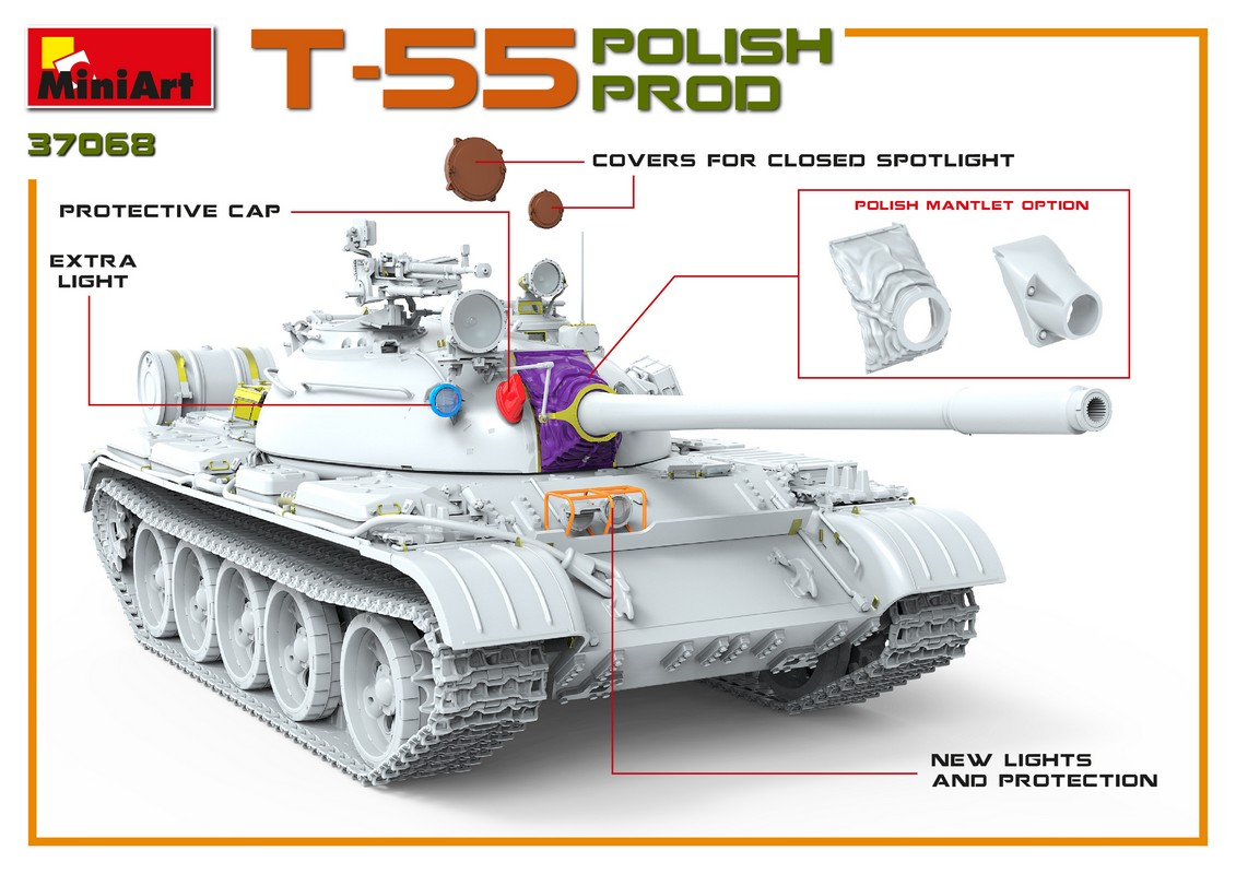 New 3D Renders of Kit: 37068 T-55 POLISH PROD.