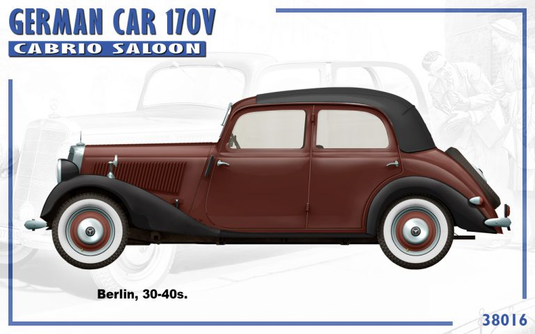 38016 GERMAN CAR 170V CABRIO SALOON