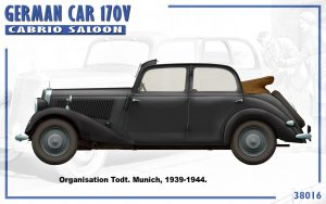 Side views 38016 GERMAN CAR 170V CABRIO SALOON