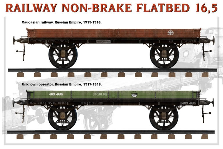 39004 RAILWAY NON-BRAKE FLATBED 16,5 t