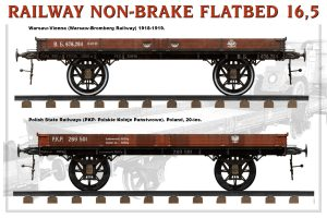Side views 39004 RAILWAY NON-BRAKE FLATBED 16,5 t