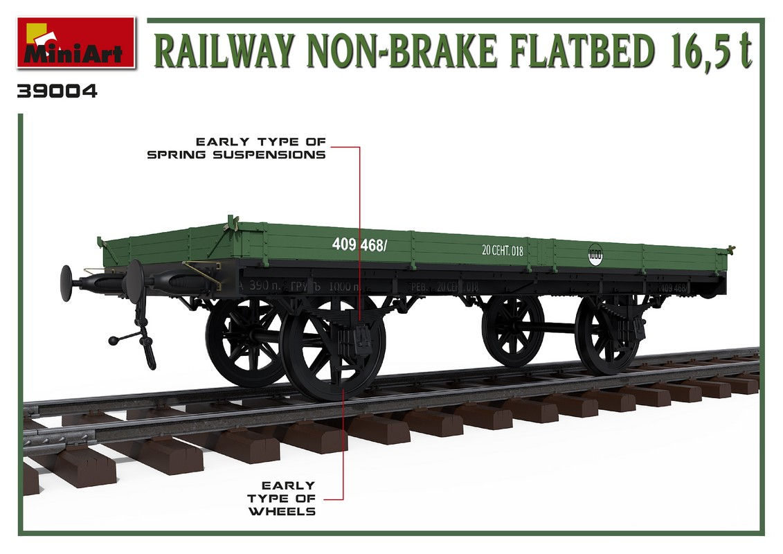 New 3D Renders of Kit: 39004 RAILWAY NON-BRAKE FLATBED 16,5 t.