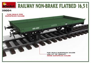 3D renders 39004 RAILWAY NON-BRAKE FLATBED 16,5 t