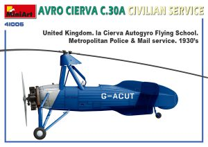 Side views 41006 AVRO CIERVA C.30A CIVILIAN SERVICE