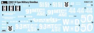 Content box 39001 B-TYPE MILITARY OMNIBUS