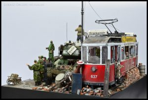 38009 EUROPEAN TRAMCAR (StraBenbahn Triebwagen 641) w/CREW & PASSENGERS by Łukasz Orczyc-Musiałek S