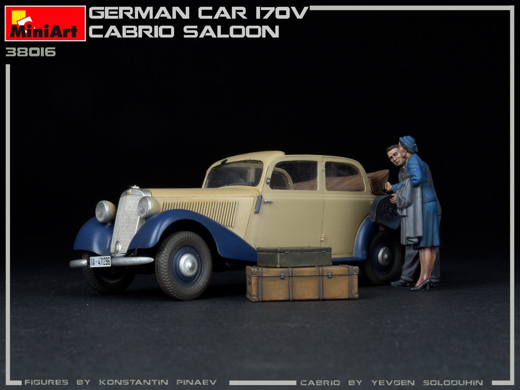 New Photos of Kit: 38016 GERMAN CAR 170V CABRIO SALOON