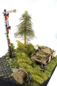 35258 GERMAN GRENADES & MINES SET + 35565 RAILROAD TRACK. RUSSIAN GAUGE + 35583 CABLE SPOOLS + 35566 RAILWAY SEMAPHORE + Johannes Tersch
