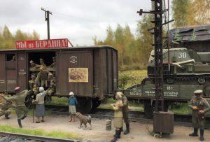 "35246 SOVIET TANK CREW AT REST. SPECIAL EDITION + 35300 SOVIET RAILWAY WAGON ""TEPLUSHKA"" + 35303 SOVIET RAILWAY FLATBED 16,5-18t + 38006 GERMAN SITTING CIVILIANS '30s-'40s + 35566 RAILWAY SEMAPHORE + Denis Pozdnyakov"