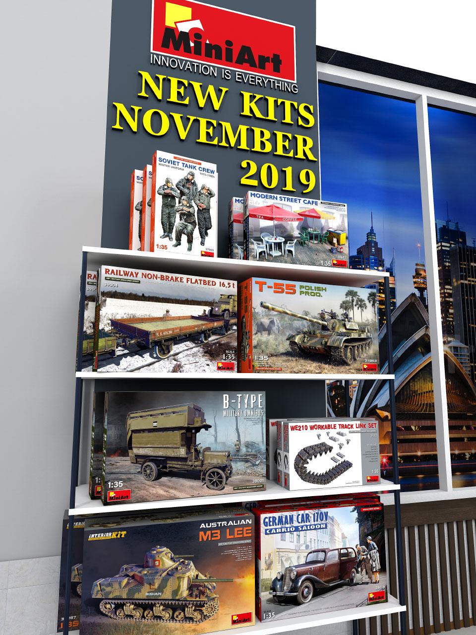 New MiniArt's Kits Available November 2019