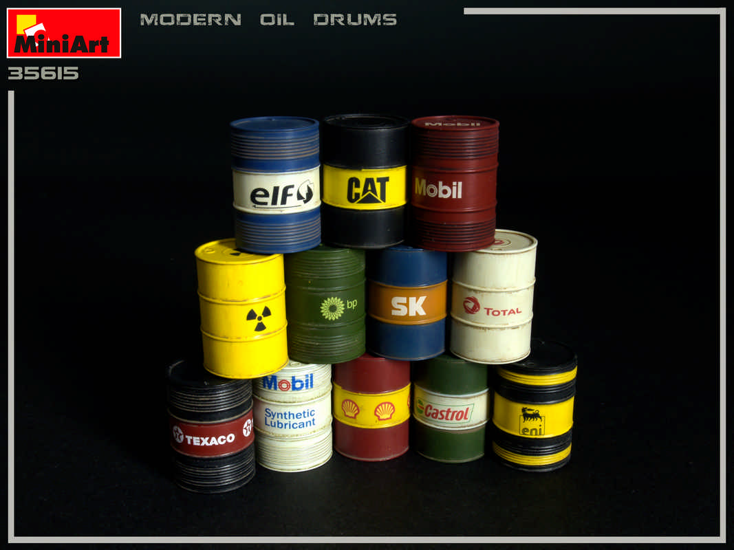 New Photos of Kit: 35615 MODERN OIL DRUMS 200L