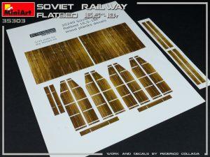 35303 SOVIET RAILWAY FLATBED 16,5-18t + Federico Collada