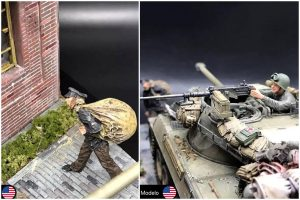 35135 CLOSE COMBAT. U.S. TANK CREW + 36023 DUTCH VILLAGE DIORAMA by waiyip1307