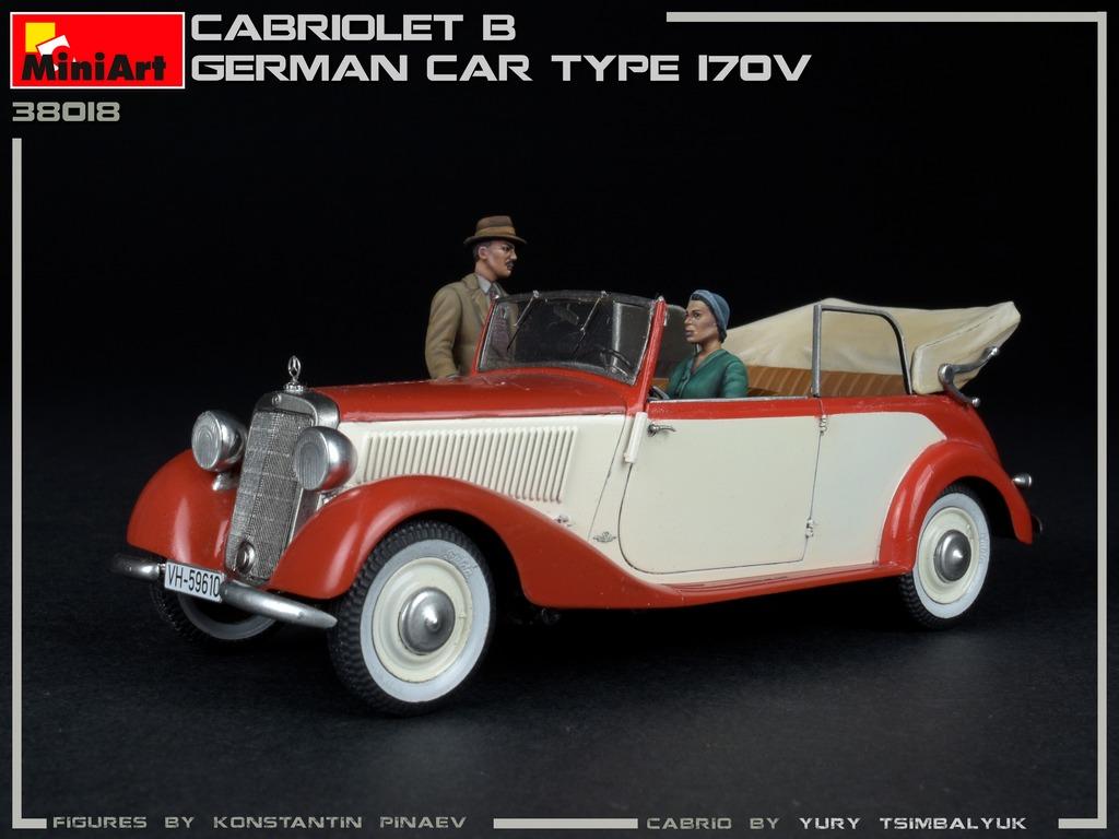 New Photos ofKit: 38018 CABRIOLET B GERMAN CAR TYPE 170V
