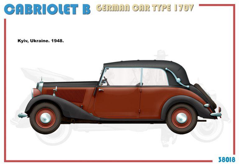 """38018 Кабриолет """"Б"""" Немецкий Автомобиль 170V"""