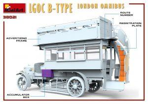 3D renders 38021 LGOC B型伦敦巴士