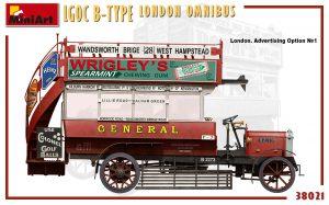 Side views 38021 LGOC B-TYPE LONDON OMNIBUS