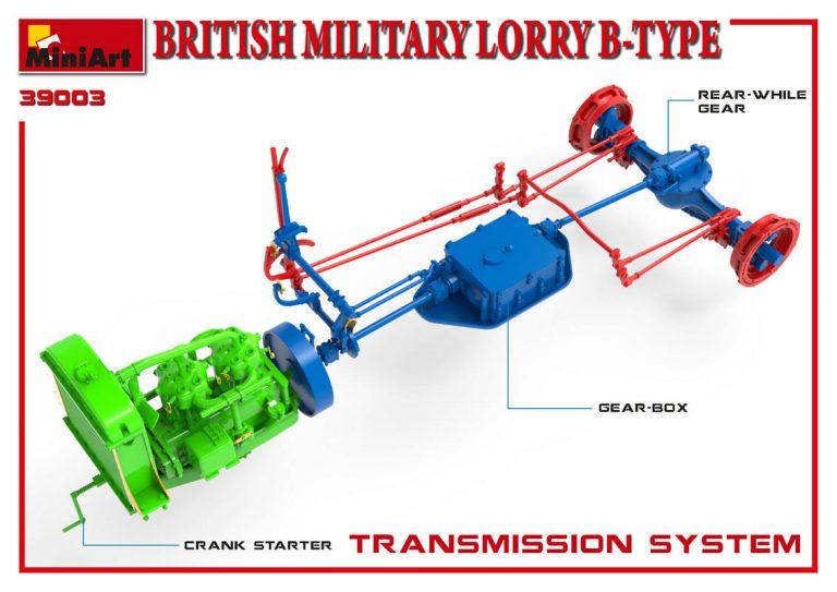 39003 BRITISH MILITARY LORRY B-TYPE
