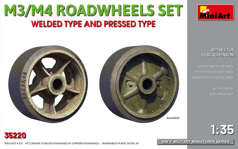 35220 M3/M4 ROADWHEELS SET. WELDED TYPE AND PRESSED TYPE