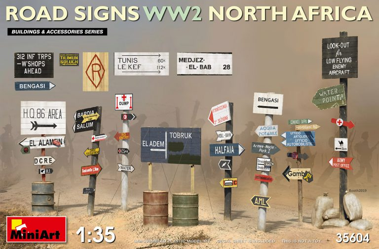 ROAD SIGNS WW2 NORTH AFRICA