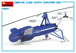 3D renders 41014 CIERVA C.30 MIT WINTER SKI