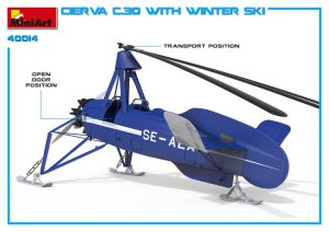 3D renders 41014 CIERVA C.30 WITH WINTER SKI