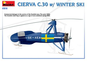 Side views 41014 CIERVA C.30 WITH WINTER SKI