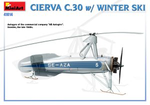 Side views 41014 CIERVA C.30 MIT WINTER SKI