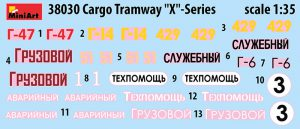 "Content box 38030 CARGO TRAMWAY ""X""-SERIES"