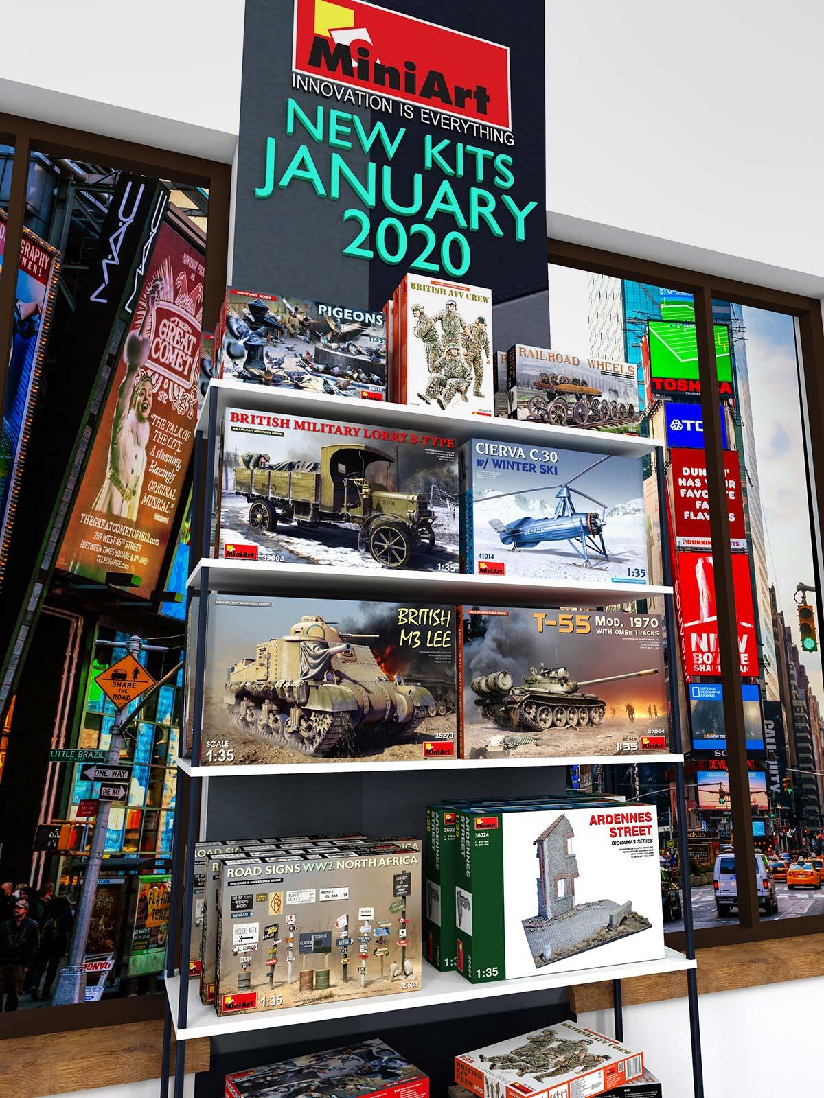 New MiniArt's Kits Available January 2020