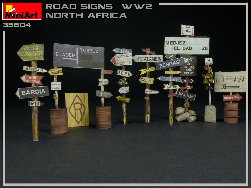 New Photos of 35604 ROAD SIGNS WW2 NORTH AFRICA