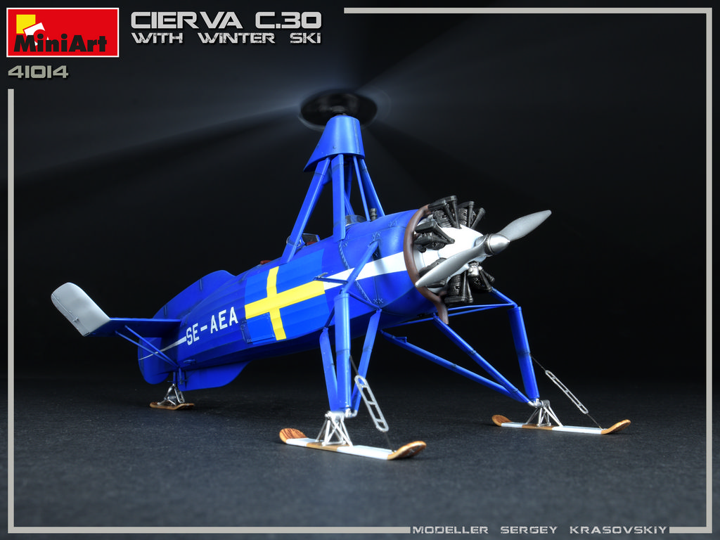 New Photos of 41014 CIERVA C.30 WITH WINTER SKI