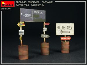 35604 ROAD SIGNS WW2 NORTH AFRICA