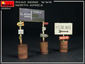 Photos 35604 道路標識WW2(北アフリカ)