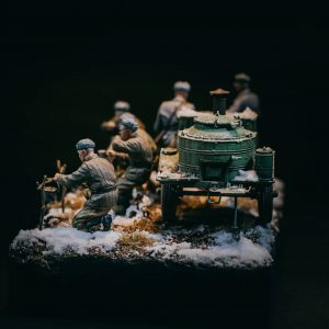 35098 FIELD KITCHEN KP-42. WINTER SCENERY + woodbdg_ghraf3