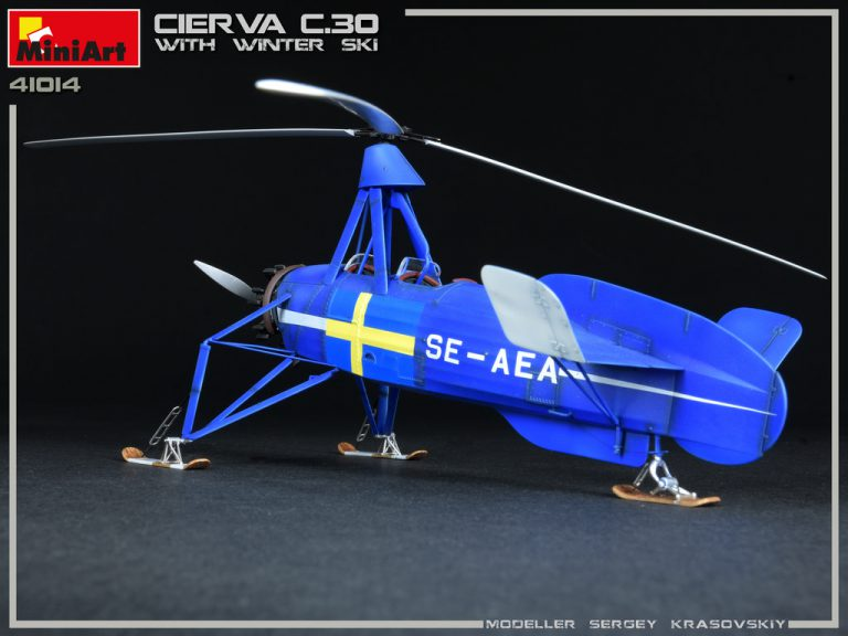 41014 CIERVA C.30 WITH WINTER SKI