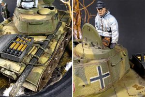 35193 T-44 SOVIET MEDIUM TANK + 35249 GERMAN TANK CREW (WINTER UNIFORMS) SPECIAL EDITION + Esteban Sidra