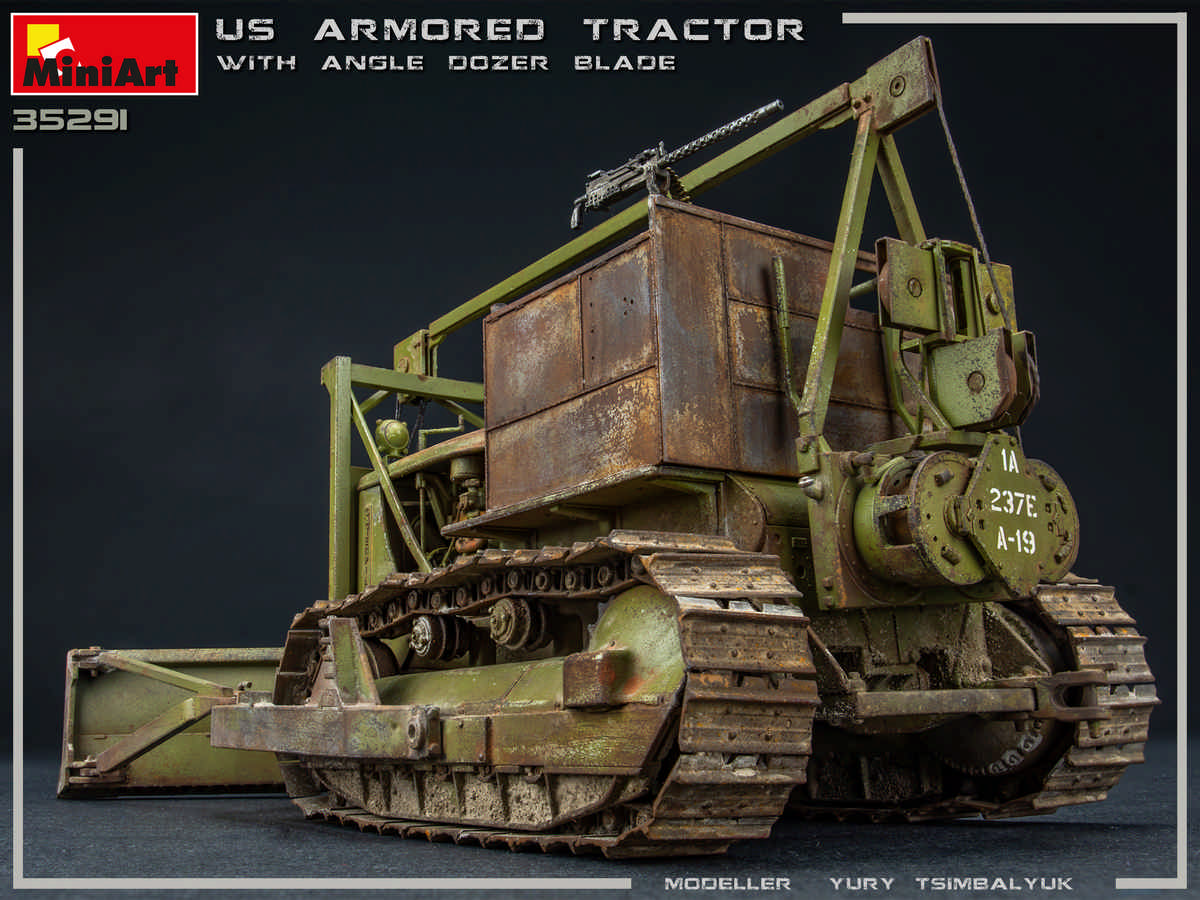 New Photos of 35291 U.S. ARMORED TRACTOR WITH ANGLE DOZER BLADE