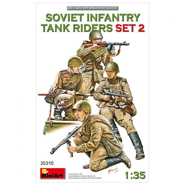 Советские Солдаты Едущие на Танке Набор 2