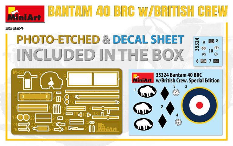 35324 BANTAM 40 BRC mit britischer Crew. Special Edition