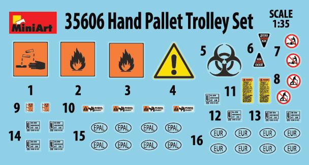 35606 HAND PALLET TRUCK SET