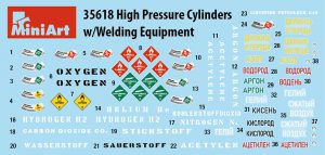 Content box 35618 HIGH PRESSURE CYLINDERS w/WELDING EQUIPMENT