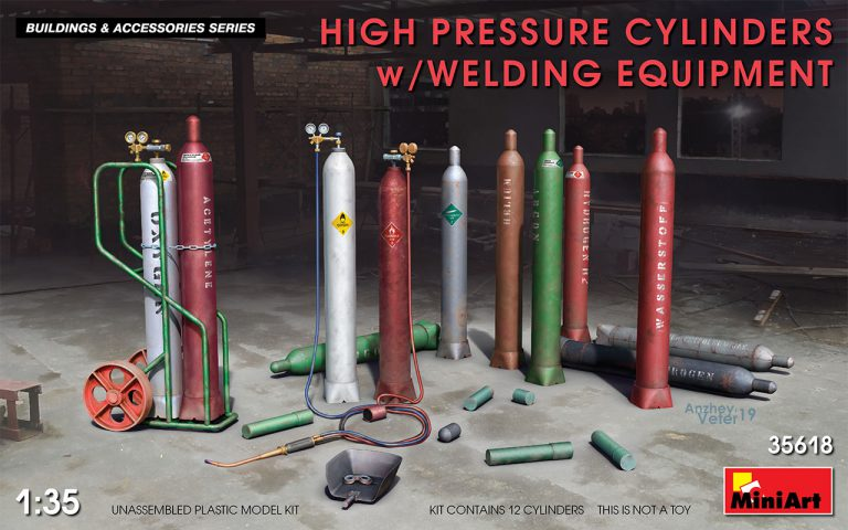 35618 HIGH PRESSURE CYLINDERS w/WELDING EQUIPMENT