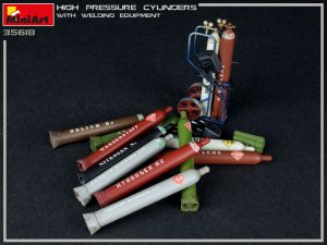 35618 HIGH PRESSURE CYLINDERS w/WELDING EQUIPMENT