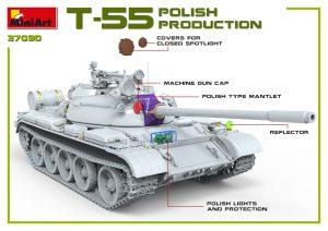 3D renders 37090 T-55A POLISH PRODUCTION