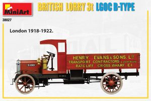 Side views 38027 BRITISH LORRY 3T LGOC B-TYPE