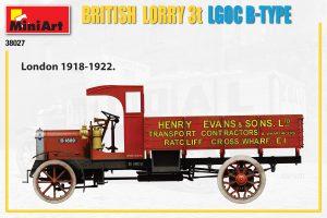 Side views 38027 Britischer LKW 3T LGOC B-TYPE