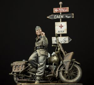 35080 U.S. WW II Motorcycle WLA + Andres Bernal
