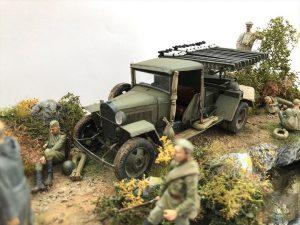 35259 BM-8-24 BASED ON 1,5t TRUCK + 35233 SOVIET SOLDIERS TAKING A BREAK + Barbarossa Models @barbarossa641