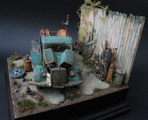 35150 MB 1500A 4×4 CARGO TRUCK + 35589 5 TON GANTRY CRANE & EQUIPMENT + Michael Volquarts Miniatures